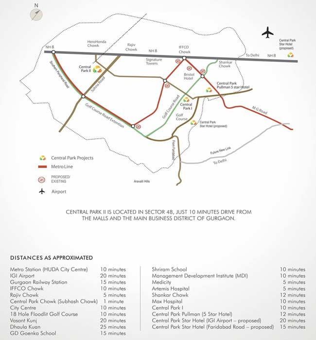 Central Park 2 Location Map Central Park Ii Sector 48