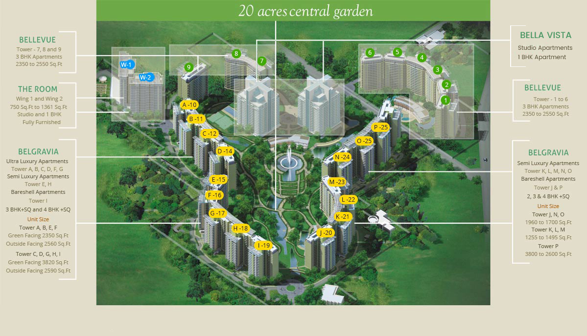 Central Park II Gurgaon Master Plan / Tower Plans