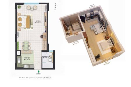 the room-centralparkii-floorplan-studio-750